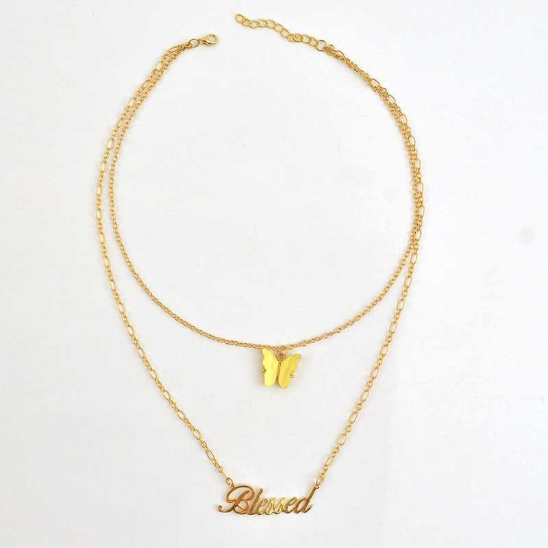 BLESSED Butterfly Necklace