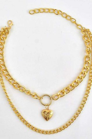 Necklace Gold Heart Chain